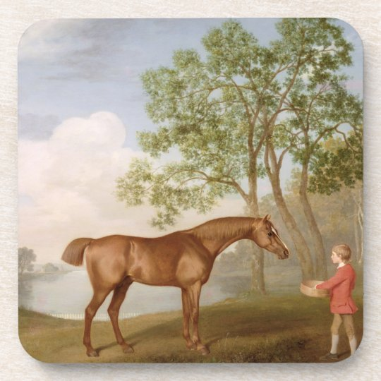 Pumpkin with a Stable-Lad, 1774 (oil on panel) Coaster