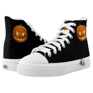 Pumpkin with face for Halloween 6 High-Top Sneakers