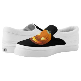 Pumpkin with face for Halloween 6 Slip-On Sneakers