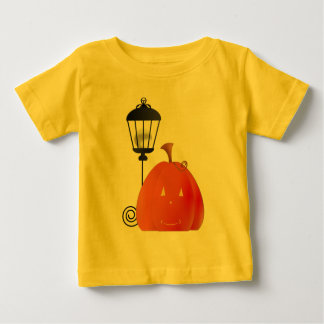 Pumpkin with Lamp Post Baby T-Shirt