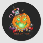 pumpkin with mouse stickers