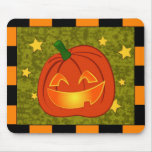 Pumpkin with orange and black border mousepads