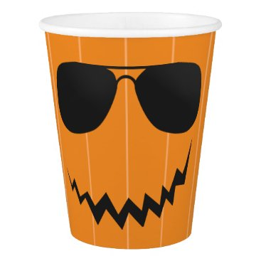 Beach Themed Pumpkin with Sunglasses Beach Halloween Party Cup