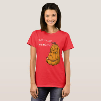 Pumpkin with the saying Let's get smashed T-Shirt