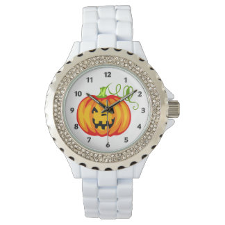 Pumpkin Wrist Watch