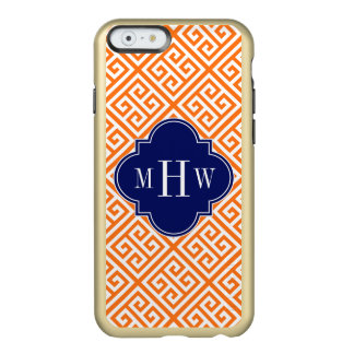 Pumpkin Wt Med Greek Key Diag T Navy 3I Monogram Incipio Feather® Shine iPhone 6 Case