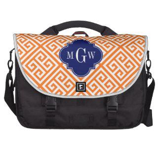 Pumpkin Wt Med Greek Key Diag T Navy 3I Monogram Laptop Bag