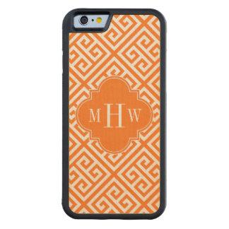 Pumpkin Wt Med Greek Key Diag T Oran Name Monogram Carved Maple iPhone 6 Bumper Case