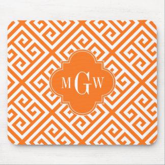 Pumpkin Wt Med Greek Key Diag T Oran Name Monogram Mouse Pad
