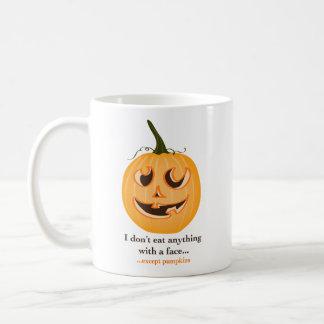 PumpkinFace2.ai Taza Básica Blanca
