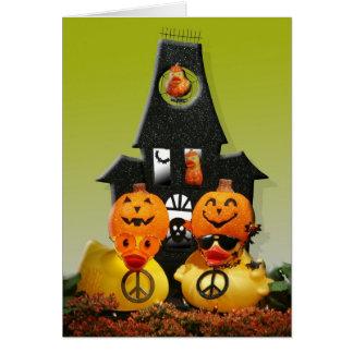 "Pumpkinhead Family (""Trick or Peace!"") Card"