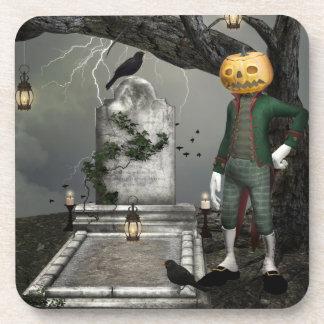 Pumpkinhead Halloween Fantasy Art Coaster