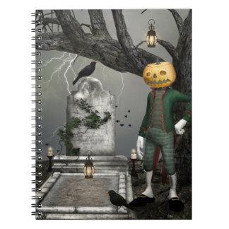 Pumpkinhead Halloween Fantasy Art Spiral Notebook