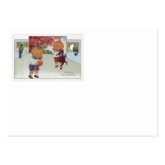 Pumpkinhead Jack O' Lantern Black Cat Owl Large Business Card