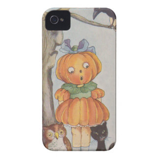 Pumpkinhead Jack O Lantern Crow Black Cat Owl Case-Mate iPhone 4 Case