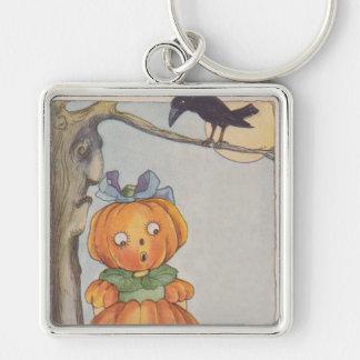 Pumpkinhead Jack O Lantern Crow Keychain