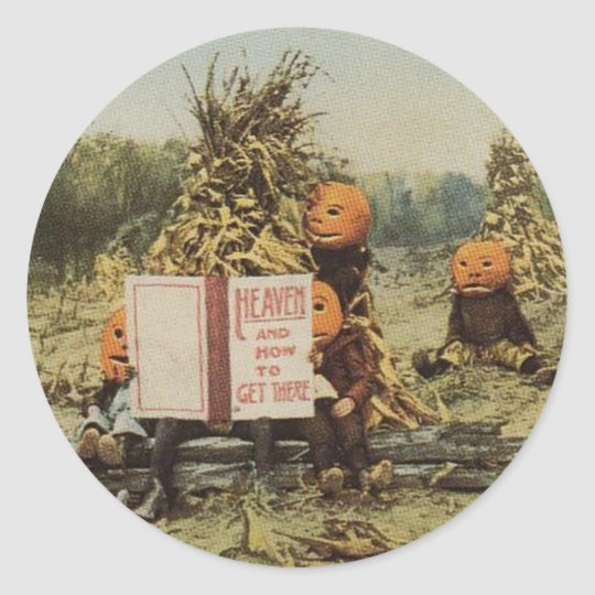 Pumpkinhead Kids Classic Round Sticker
