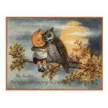 Pumpkinhead Owl Full Moon Tree Pumpkin Postcard