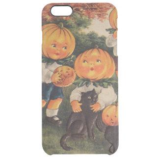 Pumpkinhead Pumpkin Jack O' Lantern Black Cat Clear iPhone 6 Plus Case