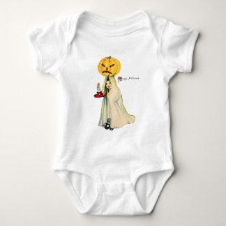 Pumpkinhead (Vintage Halloween Card) Baby Bodysuit