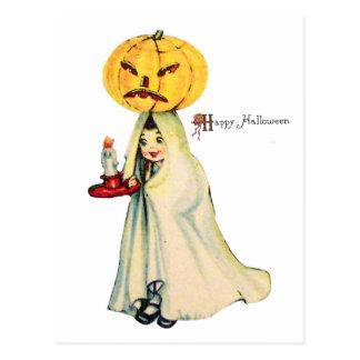 Pumpkinhead (Vintage Halloween Card) Postcard