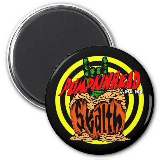 Pumpkinhead Zombie Rock Magnet