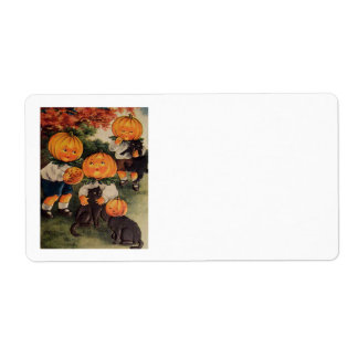 Pumpkinheads Personalized Shipping Labels