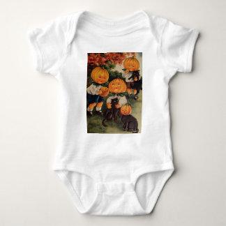 Pumpkinheads (Vintage Halloween Card) Baby Bodysuit