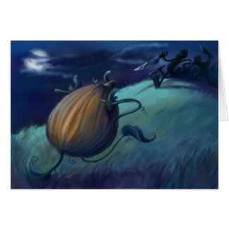 pumpkinhorror tarjeta de felicitación