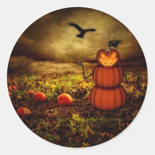 Pumpkinman Classic Round Sticker