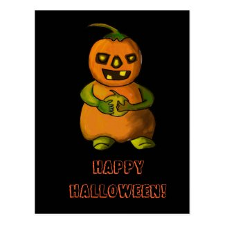Pumpkinman Postcard