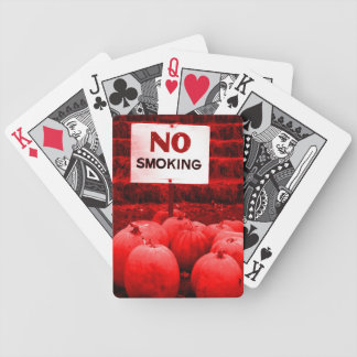 Pumpkins Against Smoking Bicycle Playing Cards