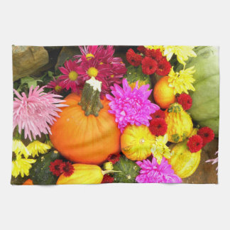 Pumpkins and Fall Kitchen Towel