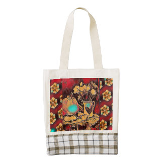 Pumpkins and Flowers to benefit Kenyan Mission Zazzle HEART Tote Bag