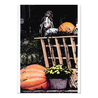 Pumpkins and Mum Autumn Picture Card