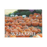 Pumpkins and Mums Autumn Harvest Photography Doormat