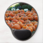 Pumpkins and Mums Autumn Harvest Photography Gel Mouse Pad