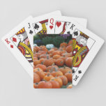 Pumpkins and Mums Autumn Harvest Photography Playing Cards
