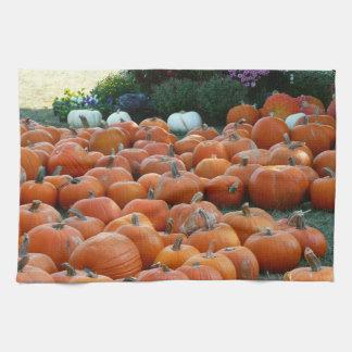 Pumpkins and Mums Autumn Harvest Photography Towel