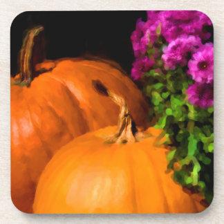 Pumpkins and Mums Coasters