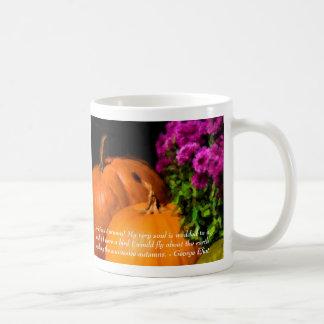 Pumpkins and Mums Classic White Coffee Mug