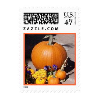 Pumpkins and Pansies Postage