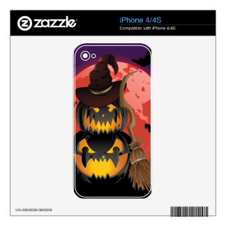 Pumpkins and Red Moon Skins For The iPhone 4S