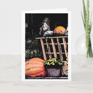 Pumpkins and Scarecrow Picture Cards
