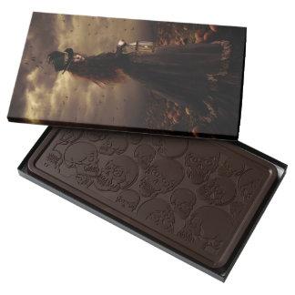 Pumpkins and Skulls Gothic Chocolate Box 2 Pound Dark Chocolate Bar Box