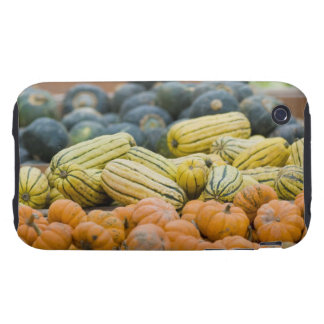 Pumpkins and squash on display at farmer's tough iPhone 3 case