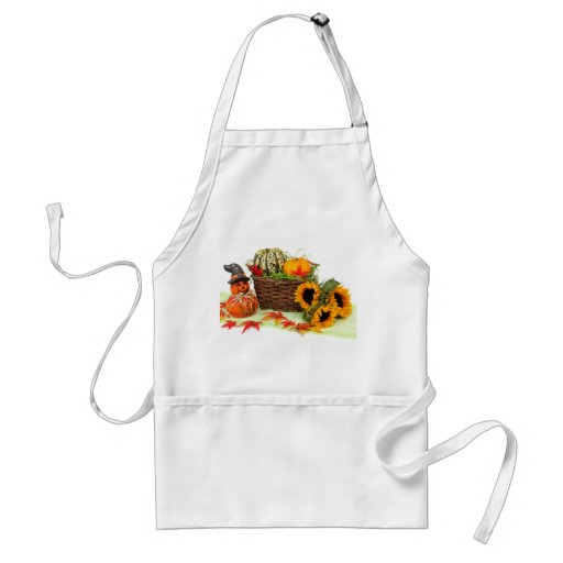 Pumpkins and Sunflowers Adult Apron
