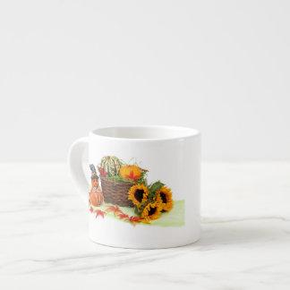 Pumpkins and Sunflowers 6 Oz Ceramic Espresso Cup