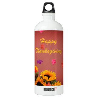 Pumpkins and Sunflowers Thanksgiving Water Bottle