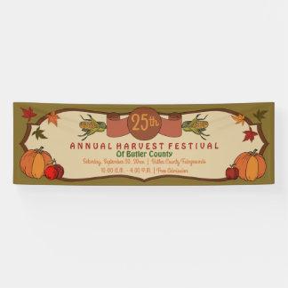 Pumpkins Apples Corn Leaves Fall Harvest Festival Banner